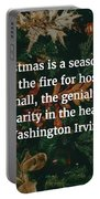 Washington Irving Quote Portable Battery Charger