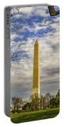 Washington Monument From The Mall Portable Battery Charger