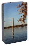 Washington Monument Portable Battery Charger by Megan Cohen