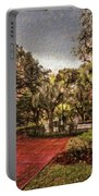 Washington Square In Mobile Alabama Painted Portable Battery Charger