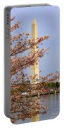 Washinton Monument In Spring Portable Battery Charger