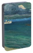 Wassily Kandinsky 1866 - 1944 Rapallo, Seascape With Steamer Portable Battery Charger