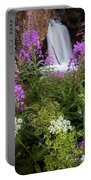 Water And Flowers Portable Battery Charger