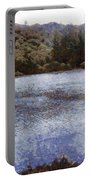 Water Body Surrounded By Greenery Portable Battery Charger