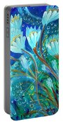 Water Flowers Portable Battery Charger