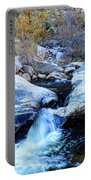Water Flowing Through Rock Formation In Sabino Canyon II Portable Battery Charger