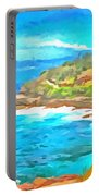 Water Gushing In On A Natural Cove Portable Battery Charger