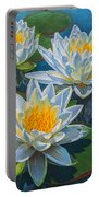 Water Lilies 12 - Fire And Ice Portable Battery Charger