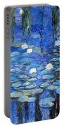 water lilies a la Monet Portable Battery Charger