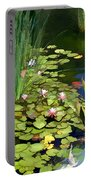 Water Lilies And Koi Pond Portable Battery Charger