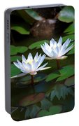 Water Lilies II Portable Battery Charger
