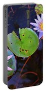 Water Lilies In Kauai Portable Battery Charger