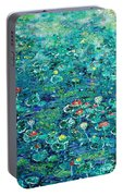 Water Lilies Lily Pad Lotus Water Lily Paintings Portable Battery Charger