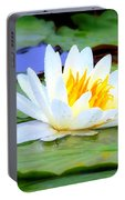 Water Lily - Digital Painting Portable Battery Charger
