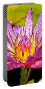 Water Lily After Rain Portable Battery Charger