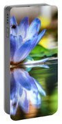 Water Lily And Bee Portable Battery Charger