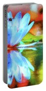 Water Lily And Bee Pastel Portable Battery Charger