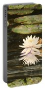 Water Lily And Pads Portable Battery Charger
