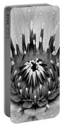Water Lily B/w Portable Battery Charger