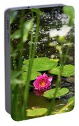 Water Lily In A Pond Portable Battery Charger