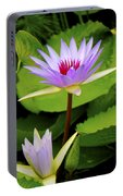 Water Lily In A Tropical Garden_4657 Portable Battery Charger