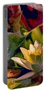 Water Lily In Living Color Portable Battery Charger