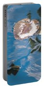 Water Lily Leaves And Reflection Of Clouds In Unknown Lake Portable Battery Charger
