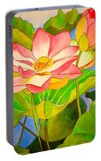 Water Lily Lotus Portable Battery Charger