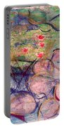 Water Lily Monotype Portable Battery Charger