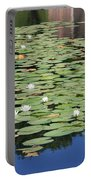 Water Lily Pond Portable Battery Charger
