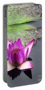Water Lily With Rain Drops Portable Battery Charger