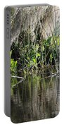 Water Reeds And Spanish Moss Portable Battery Charger