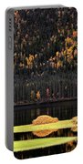 Water Reflections In Autumn Portable Battery Charger