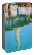Water Reflections Of Morro Bay  Dock Portable Battery Charger