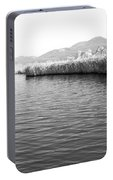 Water Scene In B And W Portable Battery Charger