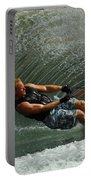 Water Skiing Magic Of Water 11 Portable Battery Charger by Bob Christopher