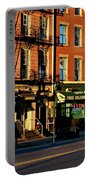 Water Street At Dusk Portable Battery Charger