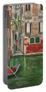 Water Taxi On Venice Side Canal Portable Battery Charger
