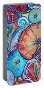 Watercolor #4 Sea Urchins Portable Battery Charger