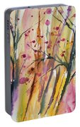 Watercolor - Autumn Forest Impression Portable Battery Charger