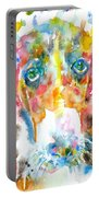 Watercolor Basset Hound Portable Battery Charger
