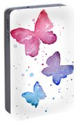 Watercolor Butterflies Portable Battery Charger
