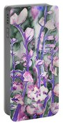 Watercolor - Cherry Blossoms Portable Battery Charger