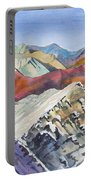 Watercolor - Colorado Elk Range View Portable Battery Charger