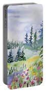 Watercolor - Colorado Summer Scene Portable Battery Charger
