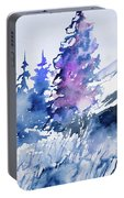 Watercolor - Colorado Winter Wonderland Portable Battery Charger