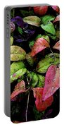 Watercolor Colorful Leaves After A Shower 1771 W_2 Portable Battery Charger