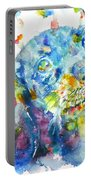 Watercolor Dachshund Portable Battery Charger