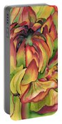 Watercolor Dahlia Portable Battery Charger