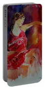 Watercolor Eglantine 1 Portable Battery Charger